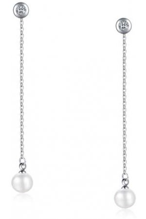 Cilla Jewels oorhangers Silver Pearl
