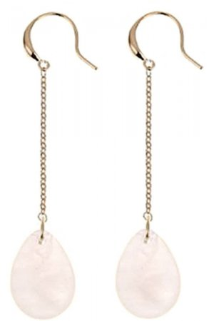 Edelstenen oorbel Dangling Drop Rose Quartz
