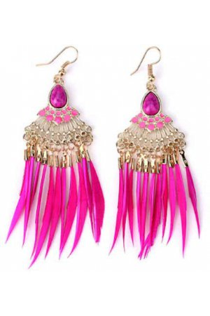 Fashionidea - Bohemian Pink Earrings
