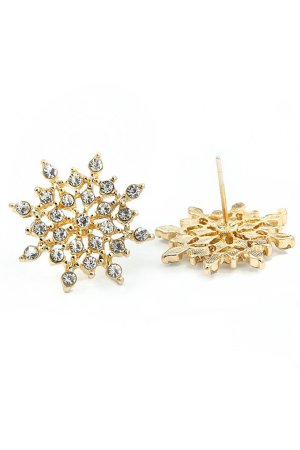 Fashionidea - Earring Star Diamond Gold