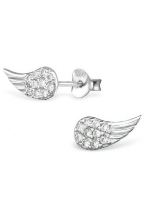 My Unique Style Angel wings cz studs