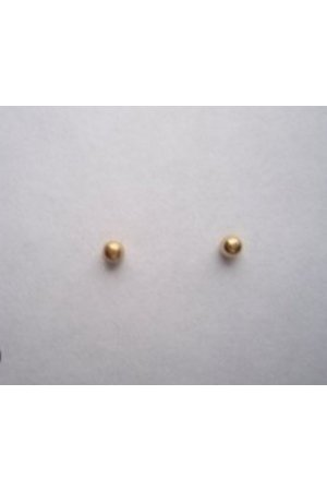 Robimex Collection Oorknoppen Bol Massief Goud 2,5 mm