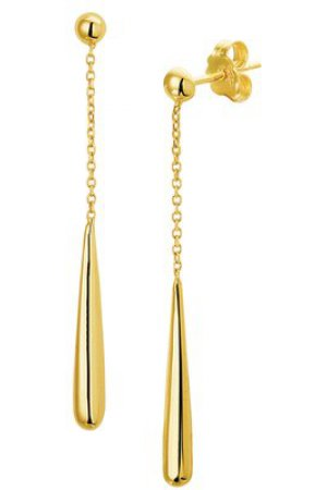 The Fashion Jewelry Collection Oorhangers Druppel - Geelgoud