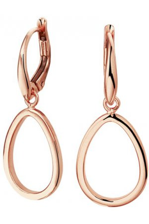 The Fashion Jewelry Collection Oorhangers Druppel - Roségoud
