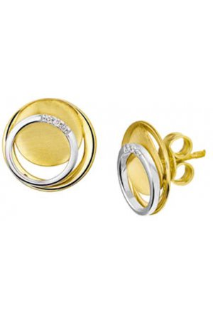 The Jewelry Collection Oorknoppen Diamant 0.02 Ct. - Bicolor Goud
