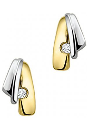 The Jewelry Collection Oorknoppen Diamant 0.03 Ct. - Bicolor Goud (14 Krt.)