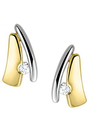 The Jewelry Collection Oorknoppen Diamant 0.048 Ct. - Bicolor Goud