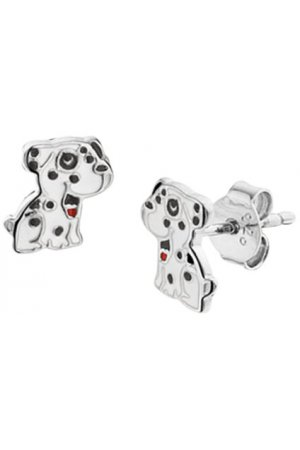 The Kids Jewelry Collection Oorknoppen Hond - Zilver Gerhodineerd