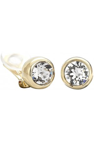 Traveller oorclips - met Swarovski Crystal - 22ct verguld - #156240